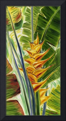 Sunlit Heliconia In Yellow