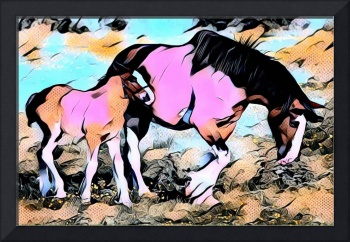 Horse and Pony Comic Pop Art