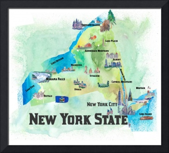 USA_New_York_State_Travel_Poster_Map_With_Highligh