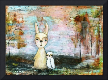 My Best Friend, Rabbit and Owl, Abstract Landscape