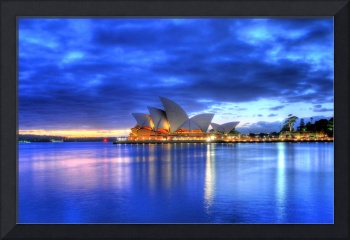 Sydney Opera House before sunrise