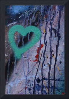 Green Heart on a Wall