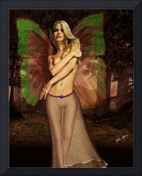 Forest Fairy with Green Wings
