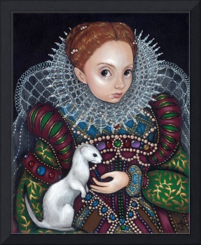 Queen Elizabeth and an Ermine