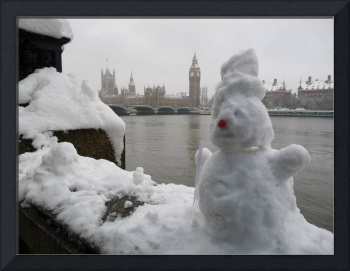 London Parliament in the Snow