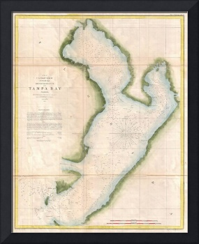 Vintage Map of Coastal Tampa Bay (1855)