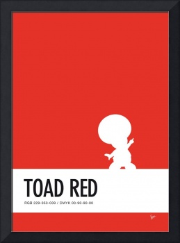 No41 My Minimal Color Code poster Toad