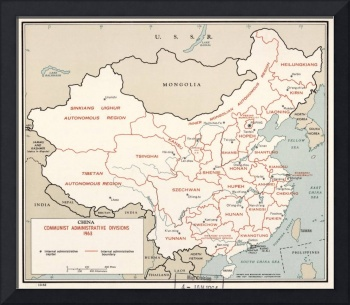 1963 China Communist Areas by The Central Intellig