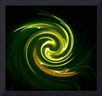 Yellow Fire Art Swirl
