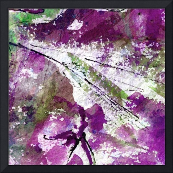 Intuitive Abstract Art Purple