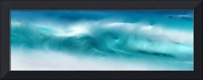 Blue Ocean Waves On The Beach Panoramic