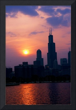Sunset, Sears Tower