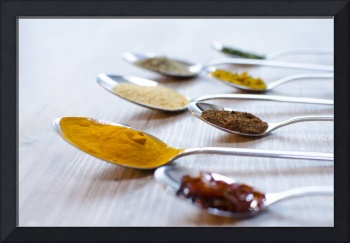 food photo of herbs spices used in kitchen