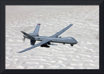An MQ-9 Reaper flies a training mission over South