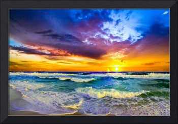 Beautiful Sunset Sea Beach Photography Prints 127