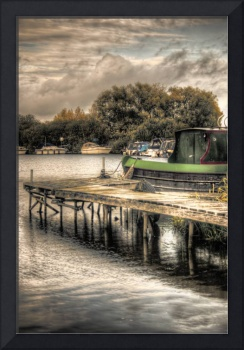 Narrowboat and Jetty