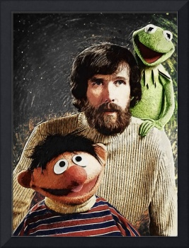 Jim Henson Together with Ernie and Kermit the Frog