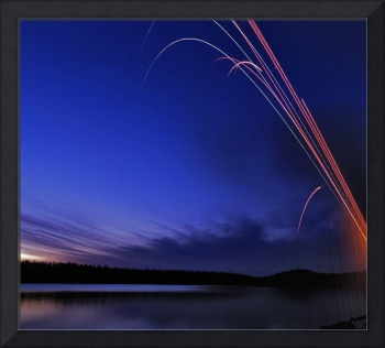 Roman Candles over Knik