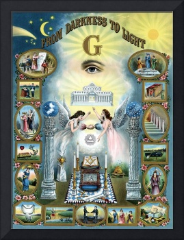 Antique Masonic Poster