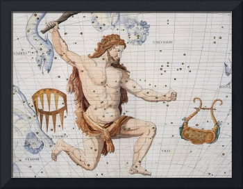 Constellation of Hercules with Corona and Lyra