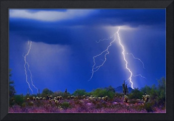 Colorful Sonoran Desert Storm