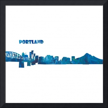 Portland Skyline in Clean Scissor Cut Style