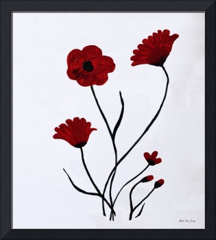 Expressive Abstract Poppies A61516