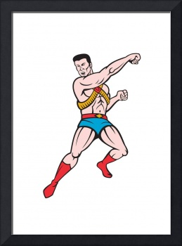 Superhero Punching Cartoon