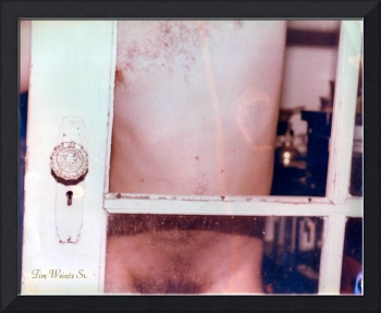 Male Nude at Door Color