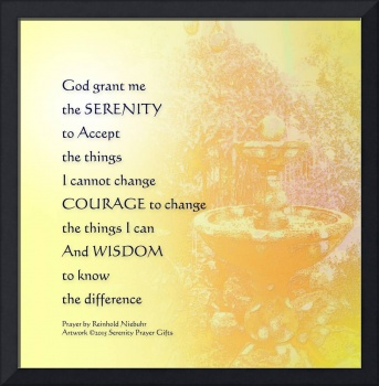 Serenity Prayer Yellow Fountain