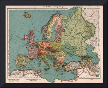 Vintage Map of Europe (1921)