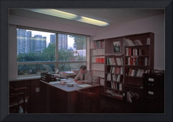 Kit, Departmental Head in his office, UBC, 1988-9