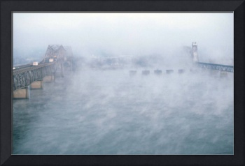 A Winter Fog Settles Over the Tennesee River, 1983