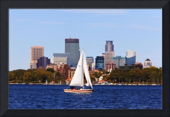 Minneapolis Skyline Lake Calhoun Sailing