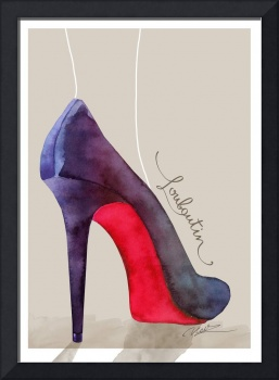 The Louboutin shoe - fashion poster