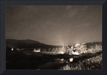 Forest of Stars Above The Chapel on the Rock Sepia