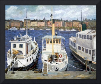 Boats in Stockholm