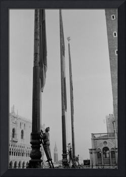 St. Mark's Square, Hoisting of Flags, Venice