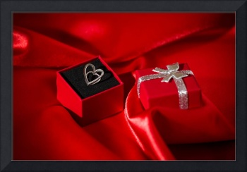Heart pendant in a gift box