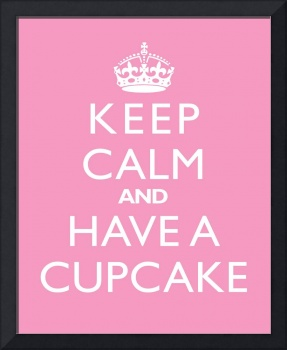 Keep Calm and have a cupcake PINK