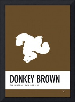 No37 My Minimal Color Code poster Donkey Kong