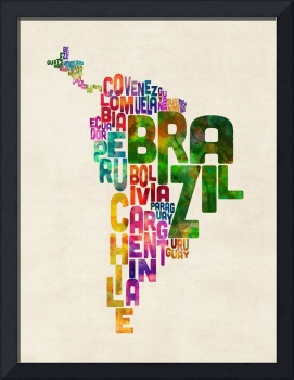 Typography Map of Central and South America