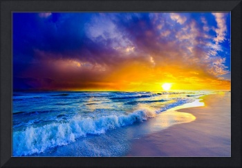 Beautiful-Beach-Sunset-Orange-Purple-Ocean-Sunset