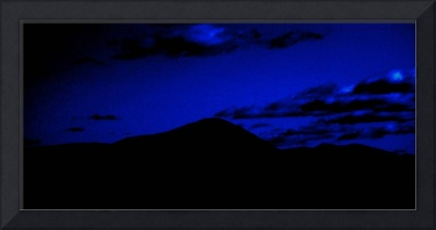 A Mountain Under Night Sky