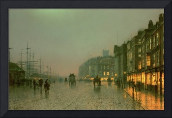 Liverpool Docks from Wapping by John A. Grimshaw