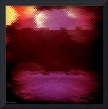 ABSTRACT PLUM MOSAIC