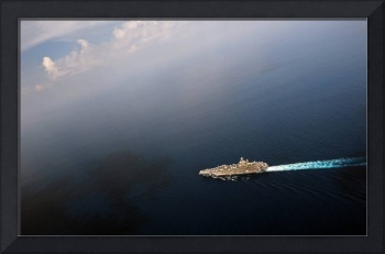 USS Abraham Lincoln transits the Indian Ocean.