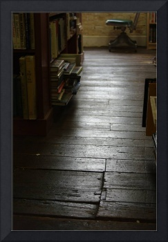 The Old Wood Floor In The Old Book Store (color)