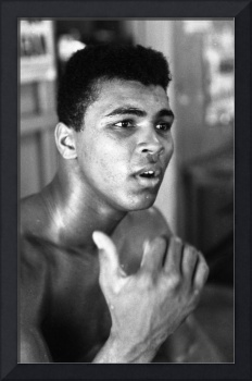 Muhammad Ali looking intently