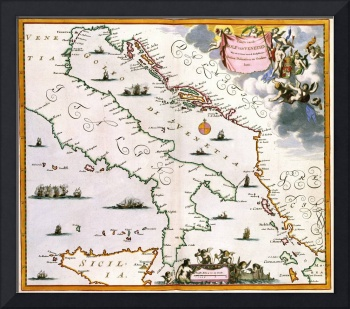 Vintage Map of Italy (17th Century)
